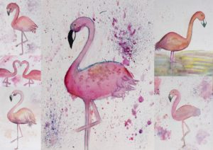 Farbe rosa und schwarz mit den Grundfarben gemischt